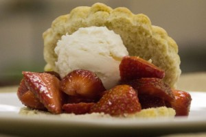 Peach Lambic + Strawberry Wheat Shortcake