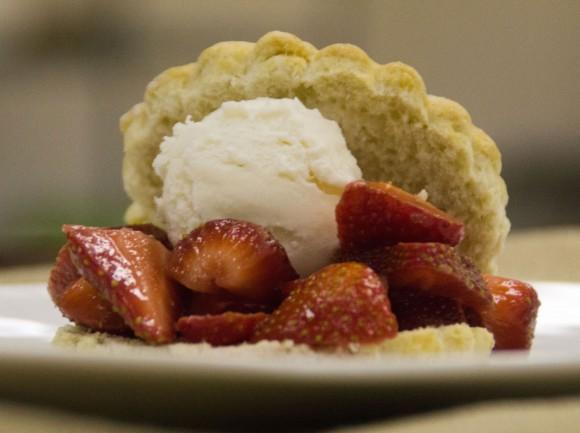 Peach Lambic + Strawberry Wheat Shortcake