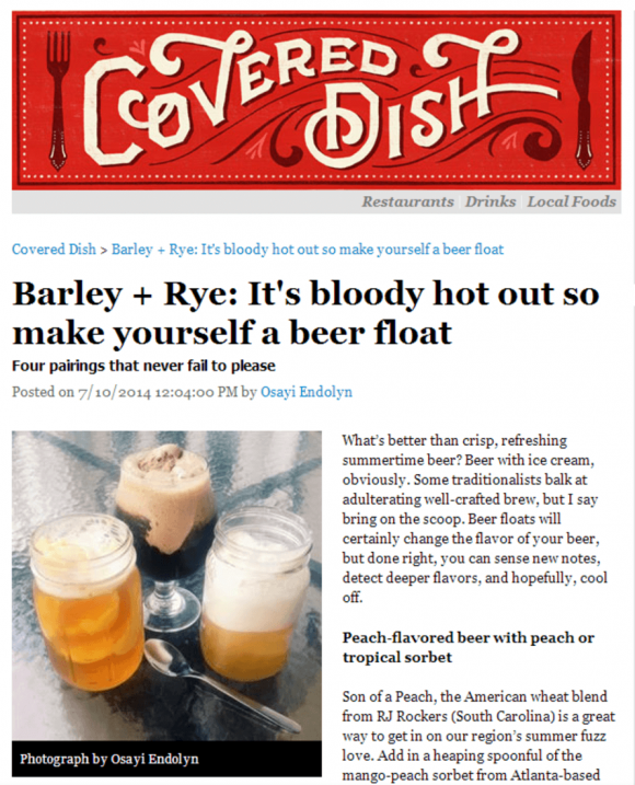 Covered Dish - Barley and Rye
