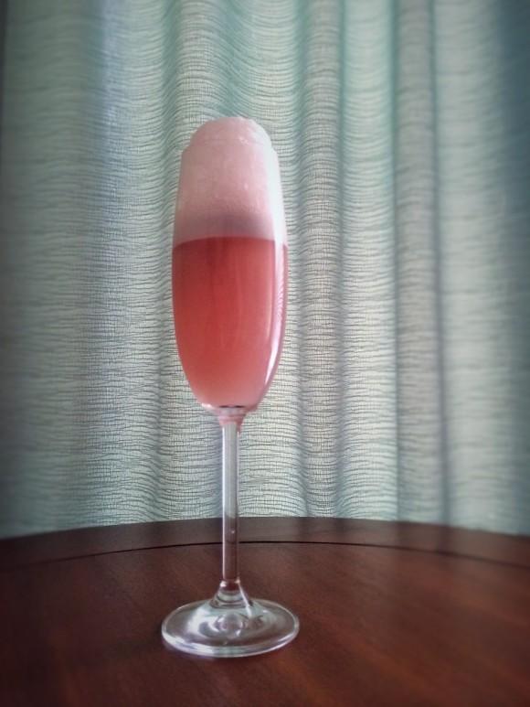 Peach Lambic and Raspberry Liqueur Float